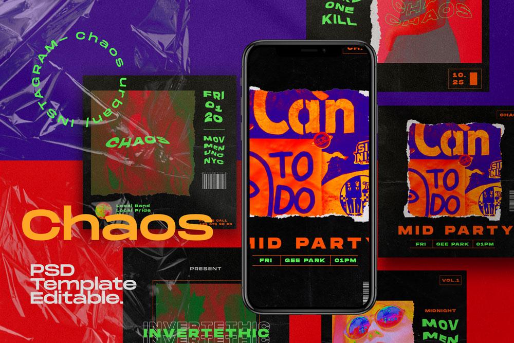 Chaos // Social Media Kit Post & Stories