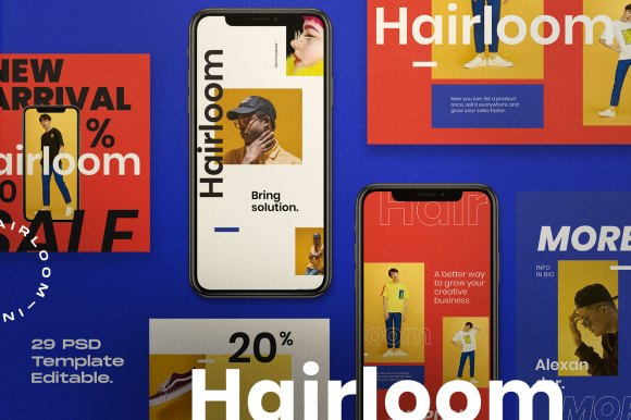 HAIRLOOM // Social Media Kit Post & Stories