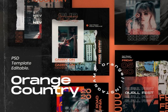 Orange Country // Social Media Kit Post & Stories