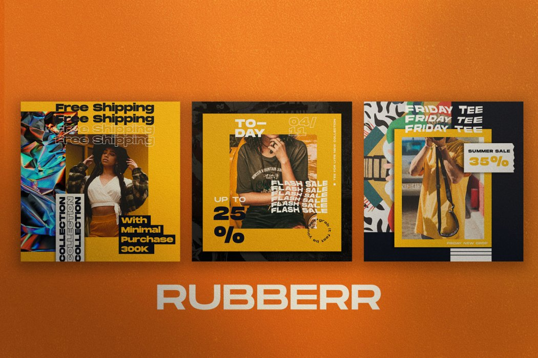 RUBBBER // Social Media Kit Post & Stories