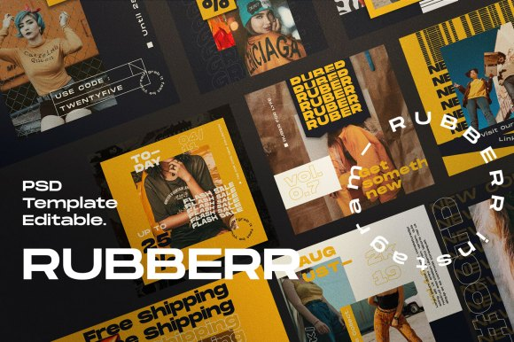 RUBBBER // Social Media Kit Post & Stories