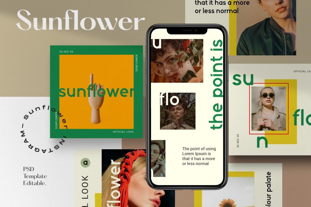 SUNFLOWER // Social Media Kit Post & Stories