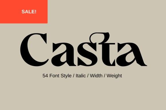 Casta Serif Family – 75% OFF