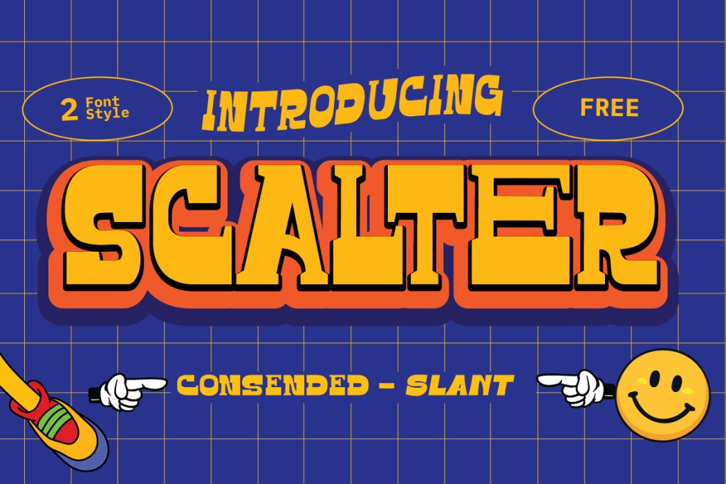 Scalter Free Typeface