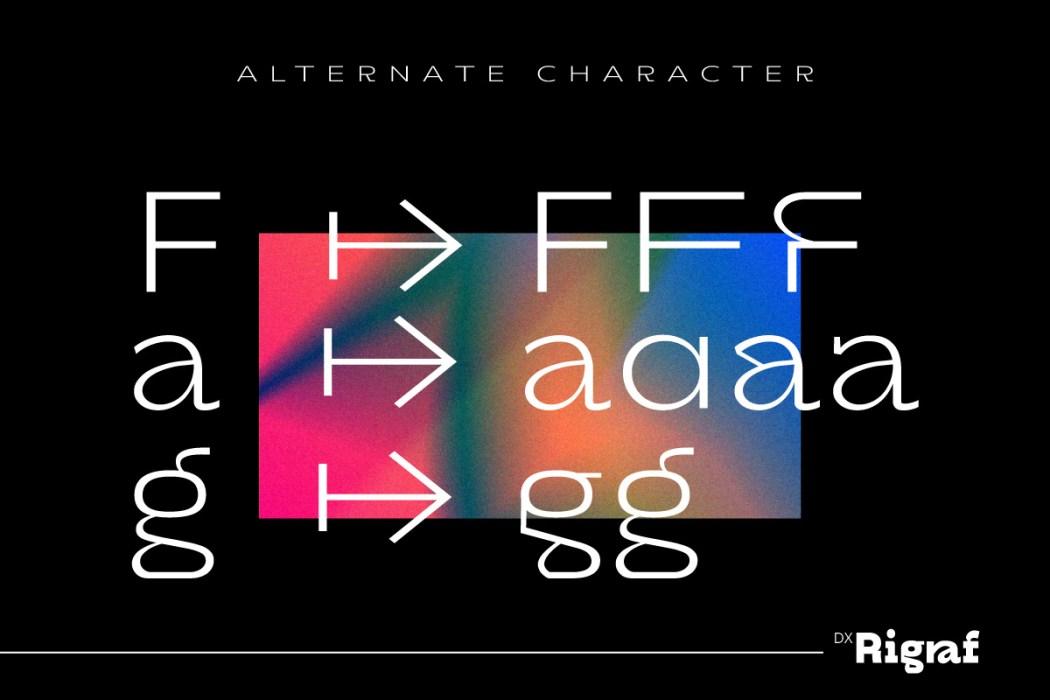 Dx Rigraf Free Font