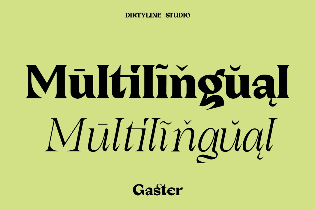 Dx Gaster Free Font