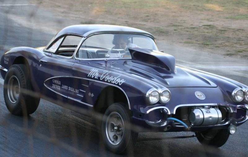 dirtyoldcars.com  1958 Corvette Gasser Mr VOO DOO Found in San Rafael  9
