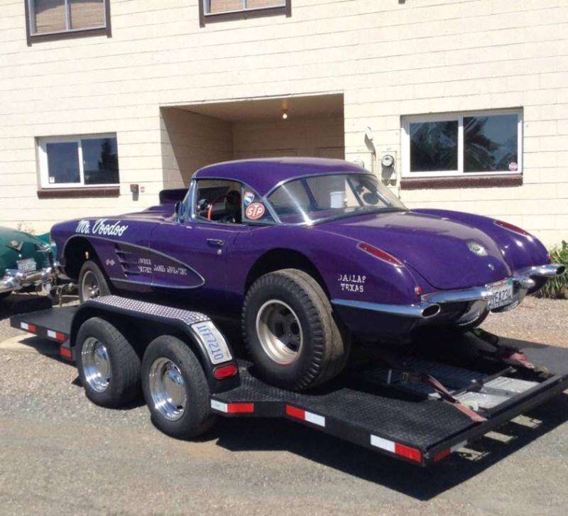 dirtyoldcars.com  1958 Corvette Gasser Mr VOO DOO Found in San Rafael  3