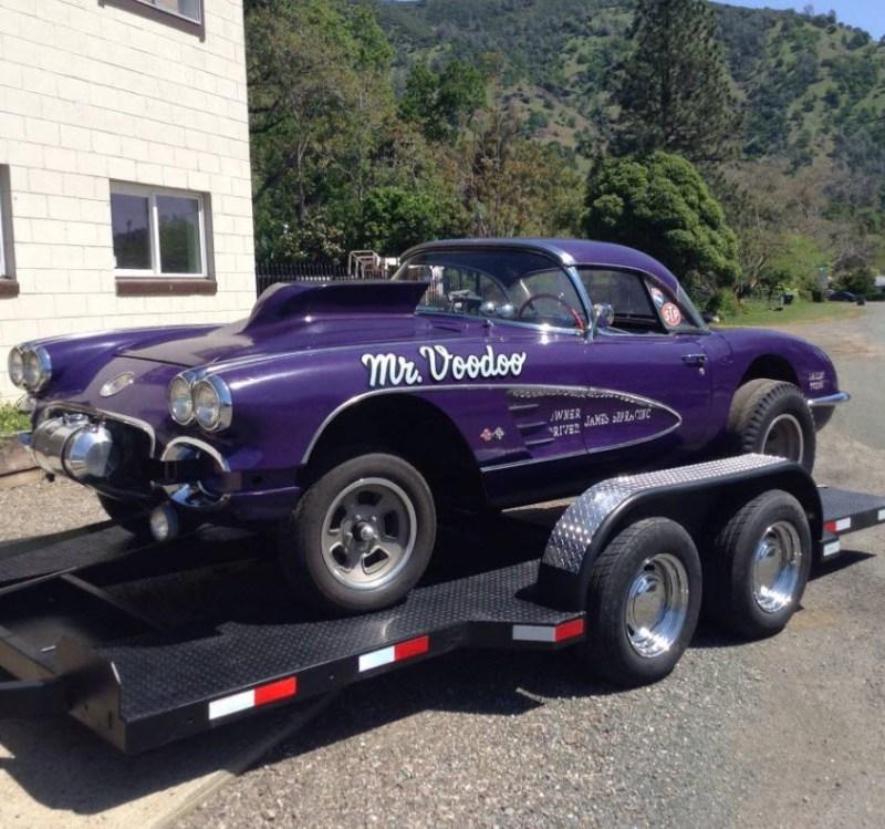 dirtyoldcars.com  1958 Corvette Gasser Mr VOO DOO Found in San Rafael  2