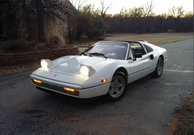 dirtyoldcars.com White 1987 Ferrari 328 GTS Found in Edmond Oklahoma 1