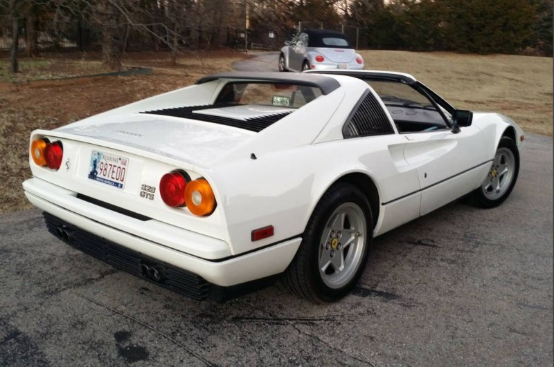 dirtyoldcars.com White 1987 Ferrari 328 GTS Found in Edmond Oklahoma 10