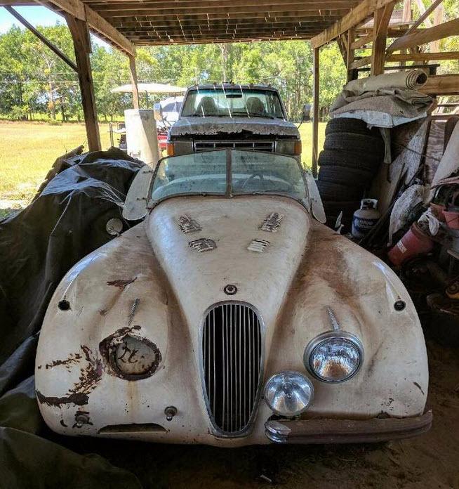 dirtyoldcars.com 1953 Jaguar XK120 Roadster Found in New York 10