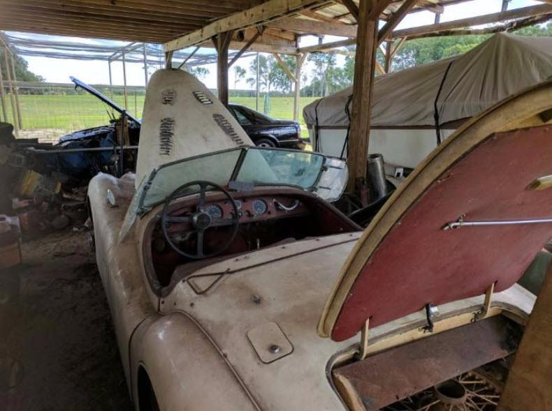 dirtyoldcars.com   1953 Jaguar XK120 Roadster Found in New York   6