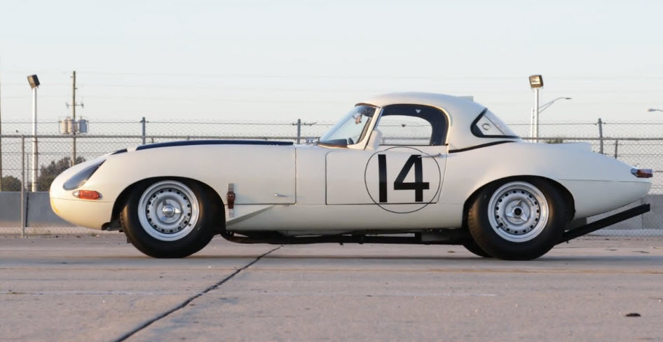 dirtyoldcars.com 1963 TeamCunningham Jaguar E-Type Lightweight Competition Coupe at Bonhams Auction at Quail Lodge 2017 7