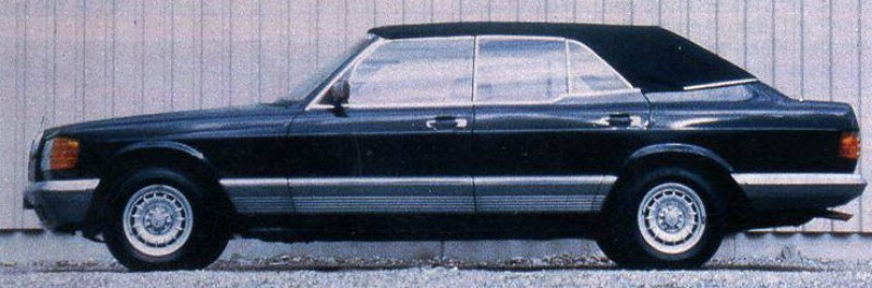 dirtyoldcars.com 1984 Mercedes 500SEL Convertible Caruna Conversion Found in New York 3