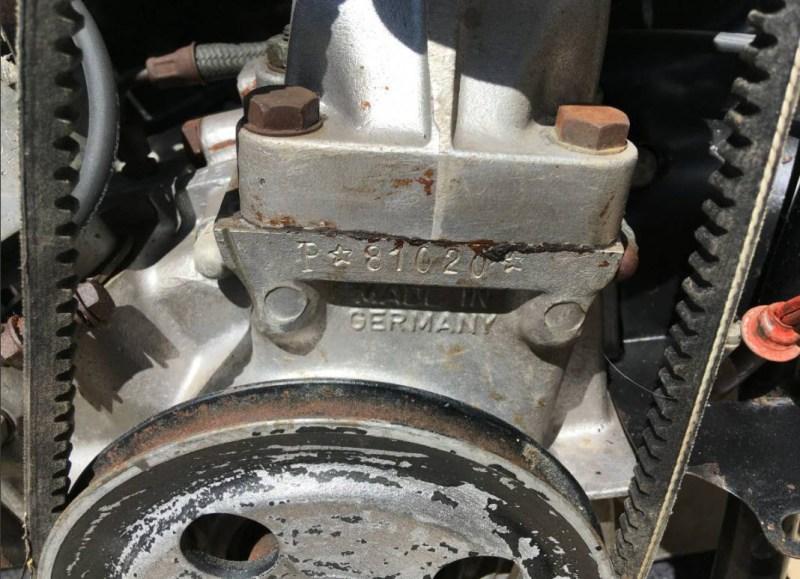 dirtyoldcars.com 1957 Porsche 356A 1600S Engine 5