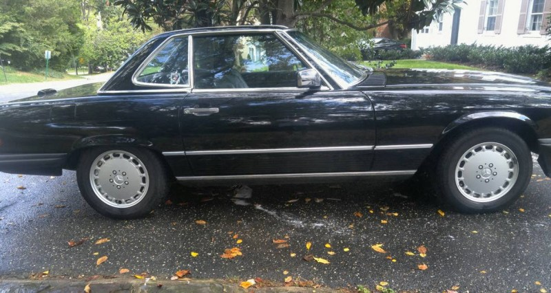 dirtyoldcars.com Low Mileage 1988 Mercedes 560SL Found in Maryland 7