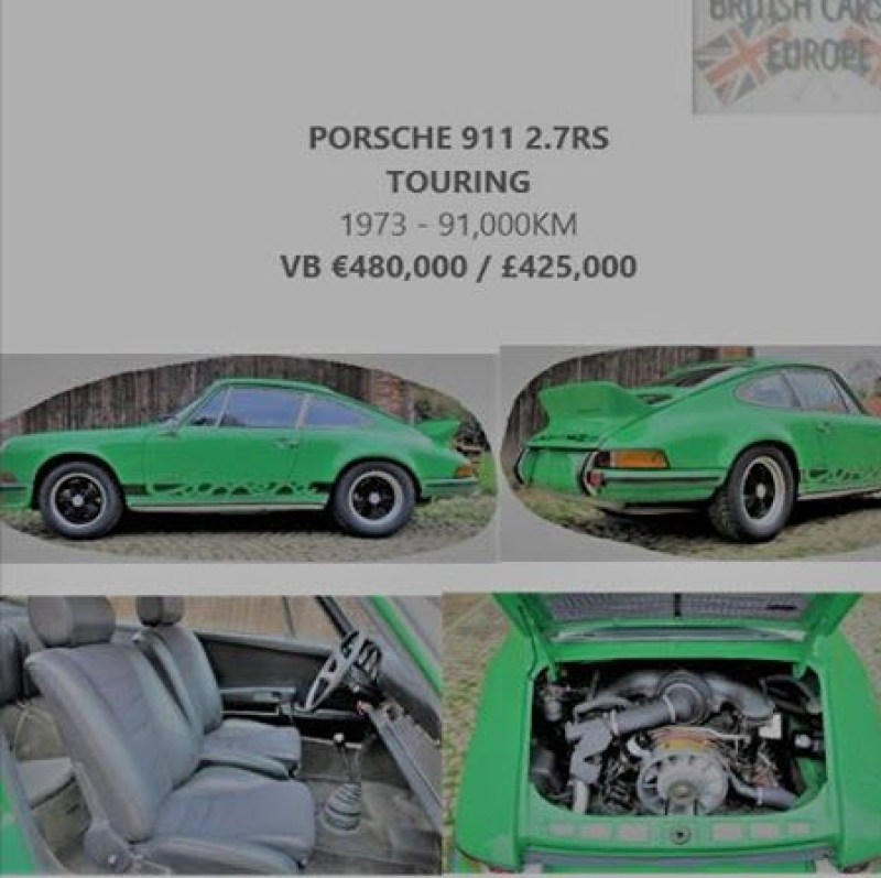 dirtyoldcars.com   Italian Delivered 1973 Porsche 911RS Touring Found in England   1