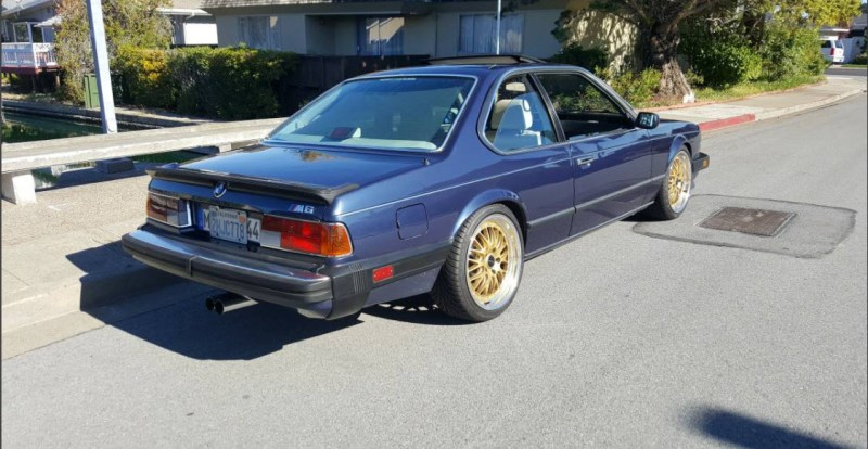 dirtyoldcars.com   1987 BMW M6 E24 Found in San Mateo  California   Blue   10
