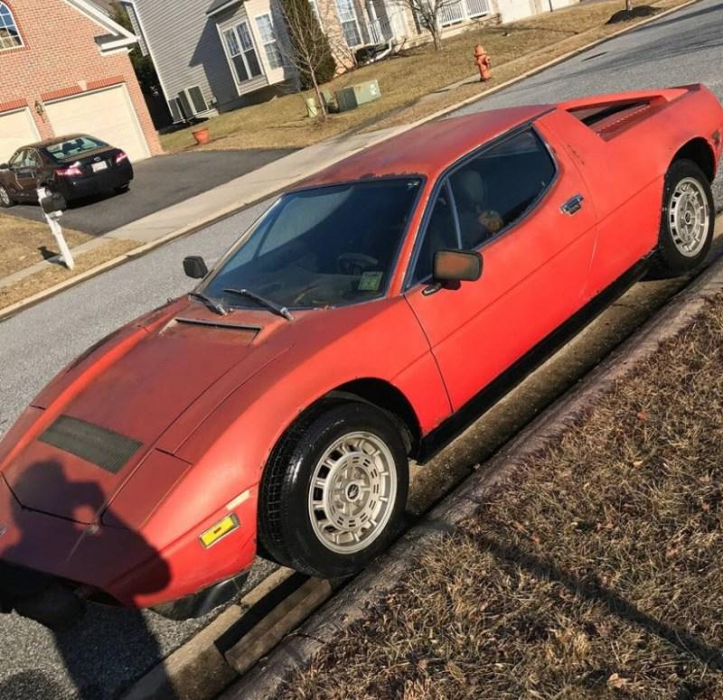 dirtyoldcarsc.com   1979 Maserati Merak SS  with Bora Dash Found in Maryland   1
