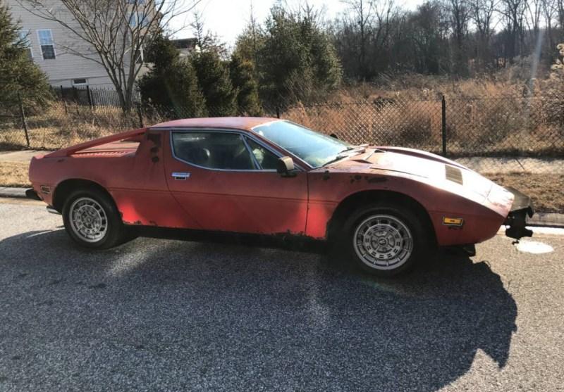 dirtyoldcarsc.com   1979 Maserati Merak SS  with Bora Dash Found in Maryland   11
