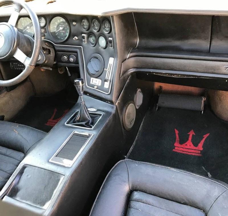dirtyoldcarsc.com   1979 Maserati Merak SS  with Bora Dash Found in Maryland   10