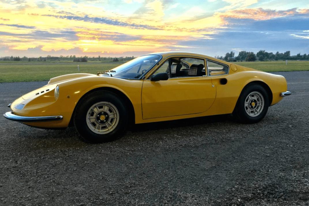 dirtyoldcars.com 1971 Ferrari 246 GT M Series Found in Niagara Falls 3