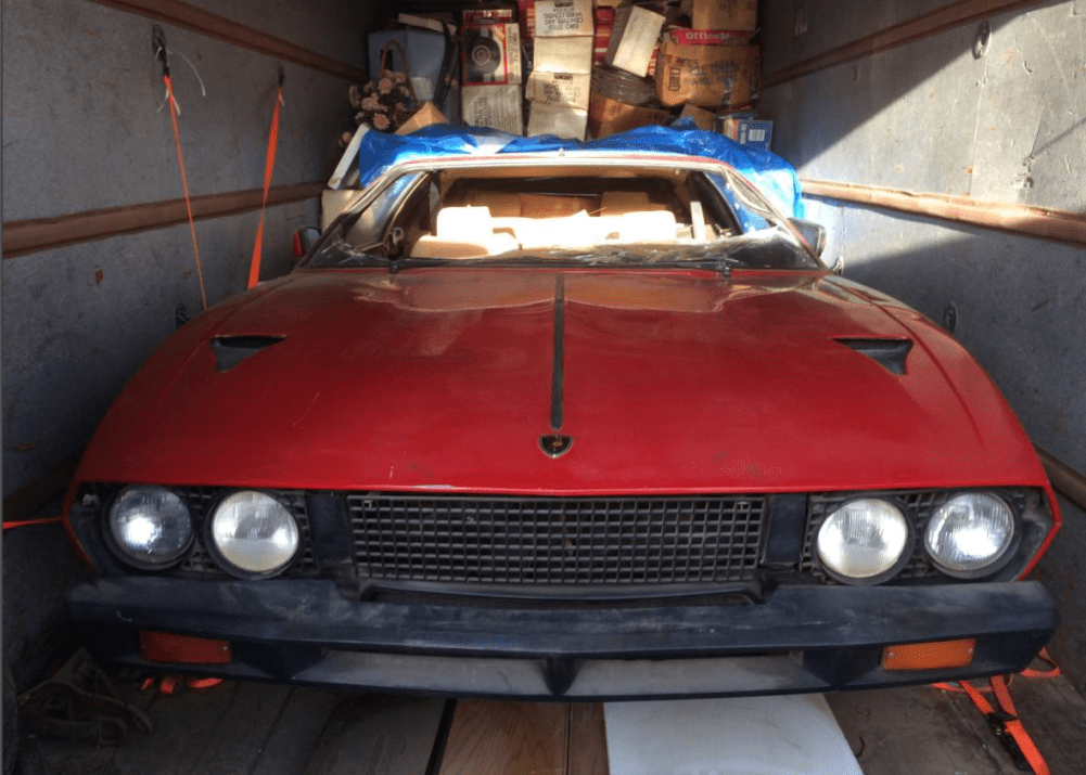 dirtyoldcars.com 1978 Lamborghini Espada III 20 year storage Found in California 5