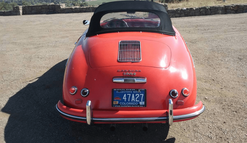 dirtyoldcars.com 1955 Porsche Speedster 1600 Super Found in Boulder 5