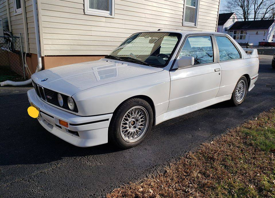 dirtyoldcars.com bmw e30 m3 white fort wayne new jersey 3