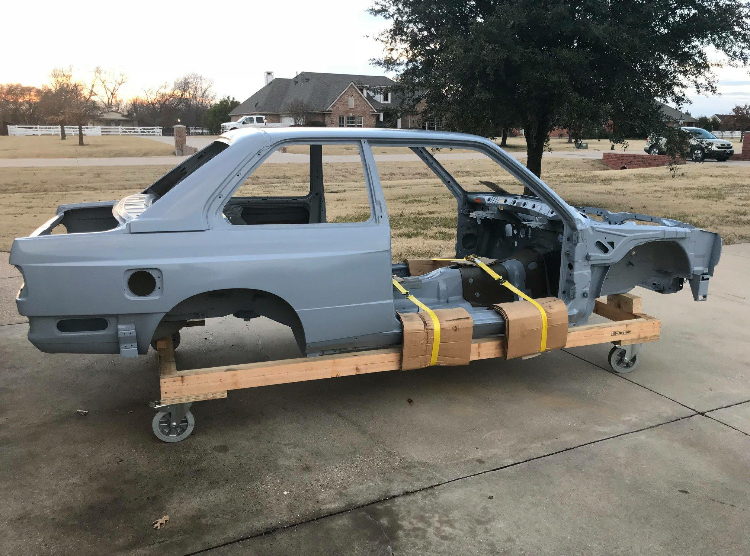 dirtyoldcars.com  Unused bmw e30 m3 factory shell  texas  5
