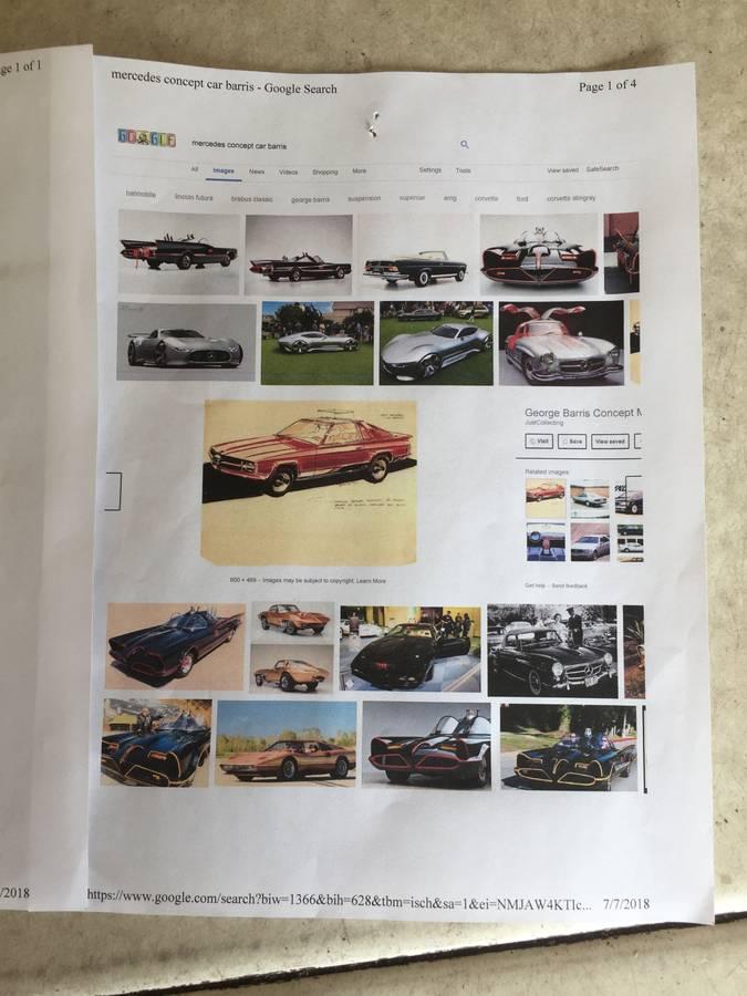 dirtyoldcars.com  george barris custom mercedes 450SL  Florida  3