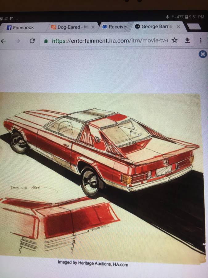 dirtyoldcars.com  george barris custom mercedes 450SL  Florida  1