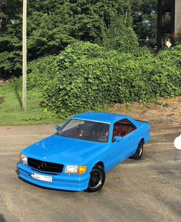 dirtyoldcars.com mercedes 1987 560SEC blue drug dealer mafia car atlanta Georgia 9