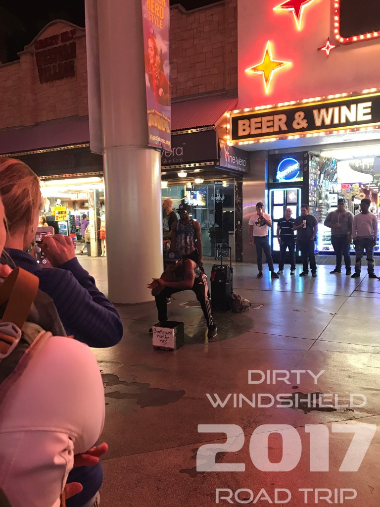 Street Performers on Fremont Street, Las Vegas - Don't forget to tip! :)