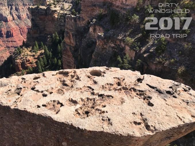 Rock like Swiss Cheese Grand Canyon