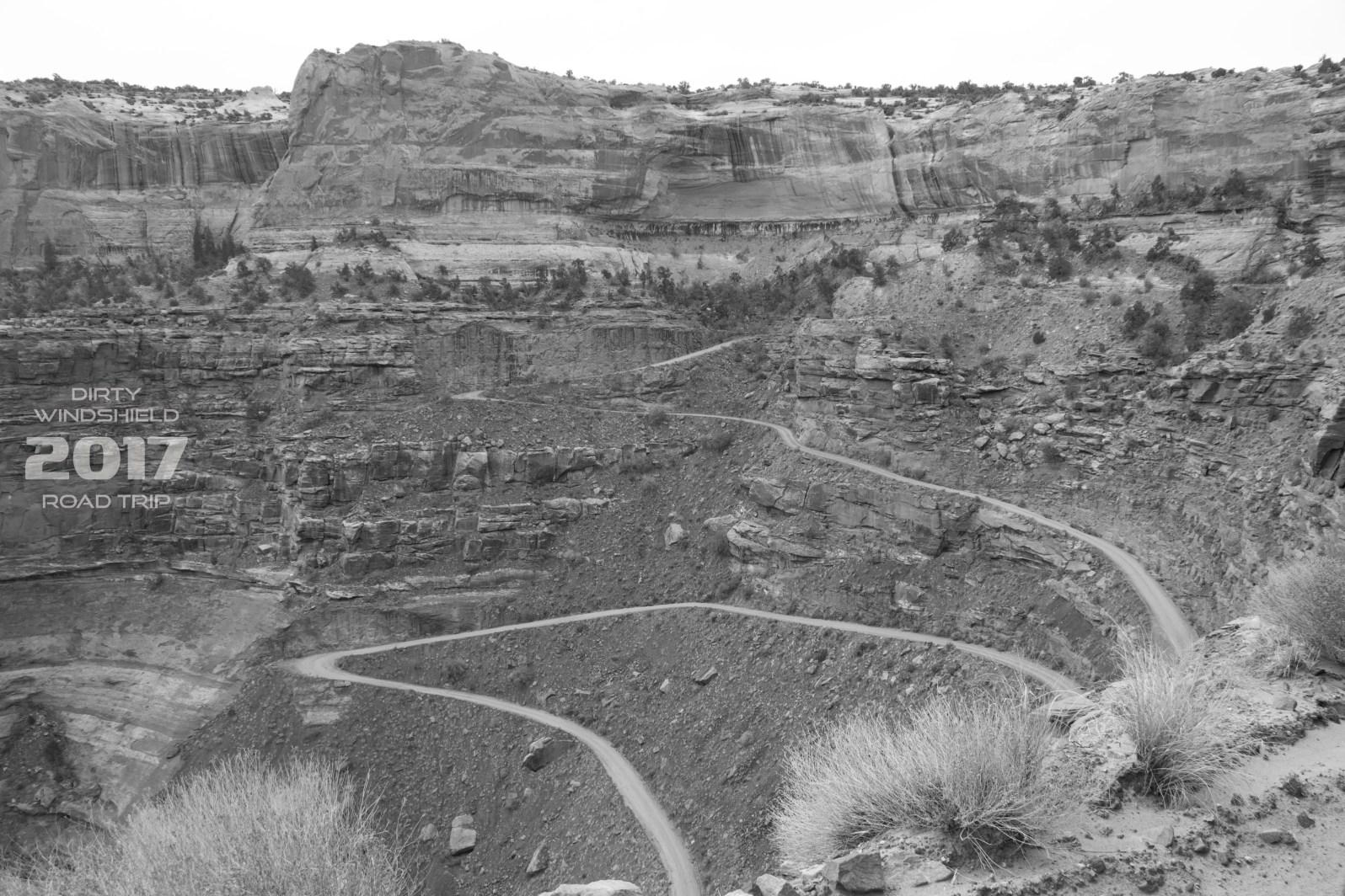 Narrow Switchback B&W Moab, UT