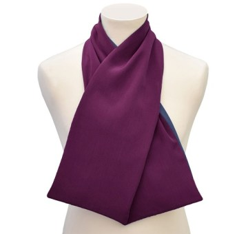 Cashmere cross-scarf clothing protector