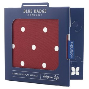 Blue Badge Company Red Spotty Display Wallet