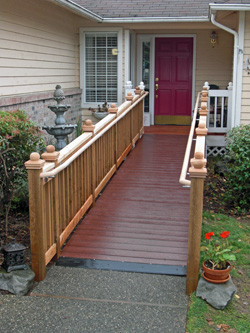 ramp leading up to door of home