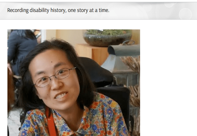 Screen shot from Special Hope Foundation's blog: http://specialhope.org/recording-disability-history-one-story-at-a-time/