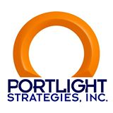 Logo of a orange colored ring and at the below the ring in dark blue text: Portlight Strategies, Inc.