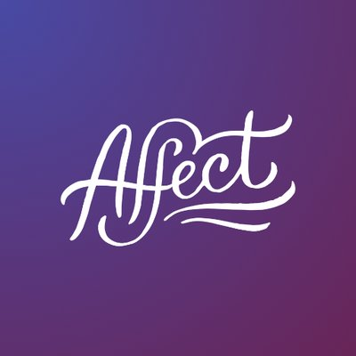 "Graphic with a purple background with white script that reads, ""Affect"" with 2 wavy lines underlining the word underneath"