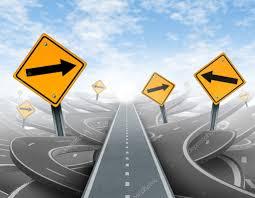 Illustration på fler motorvägar som leder på fler spår