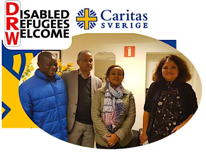 fyra personer från DRW och Caritas som ler