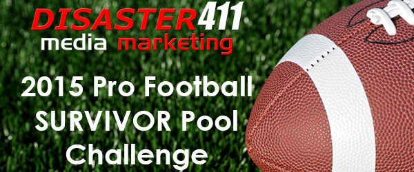 DISASTER411's 2015 Pro Football Survivor Pool Challenge