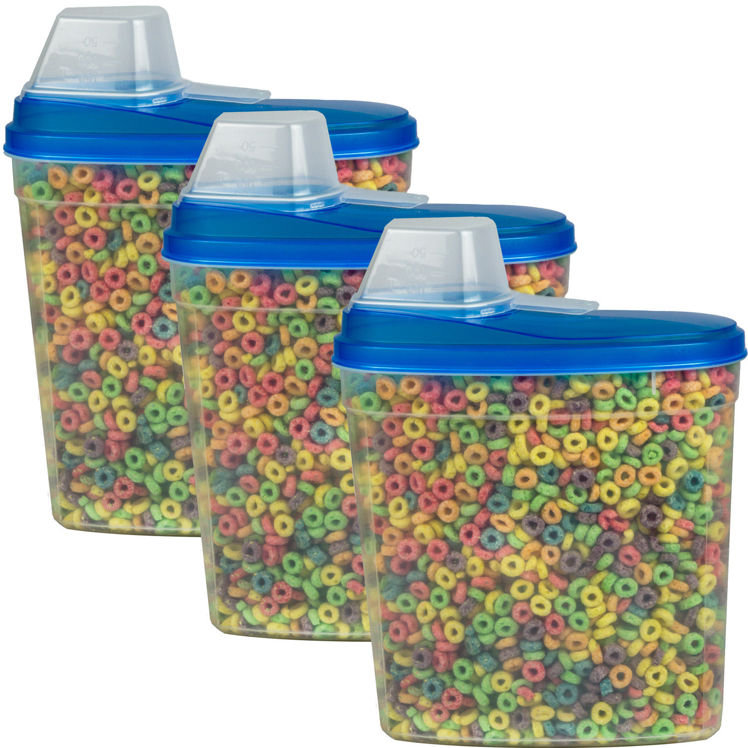 3 Pack Large Cereal Keeper Food Storage Container 23.75 Cup BPA Free 1