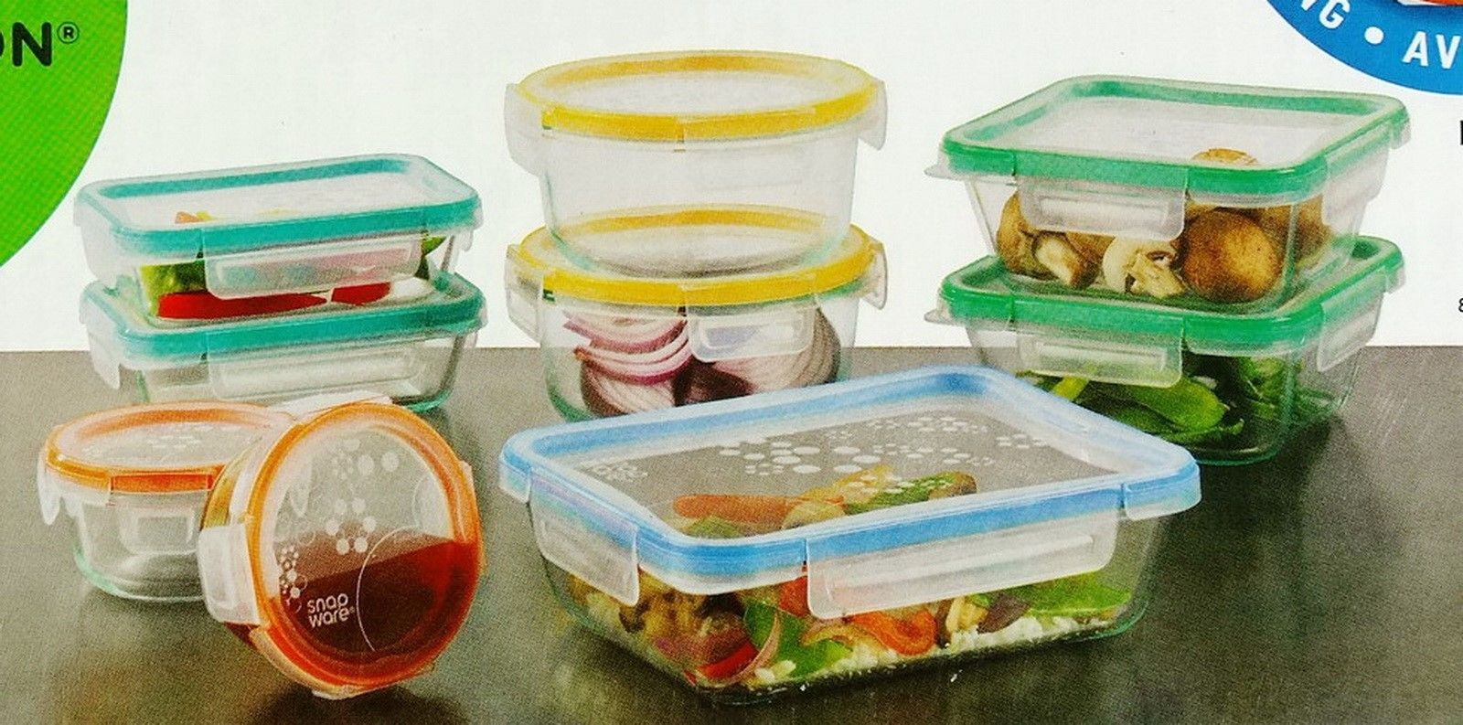 New Snapware 18 Piece Pyrex Glass Food Storage Containers Set 1