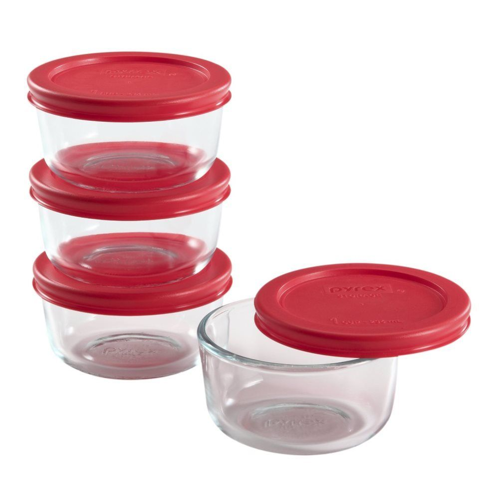 Pyrex 1085655 Pyrex Simply Store 8-Piece Glass Food Storage Set New 1