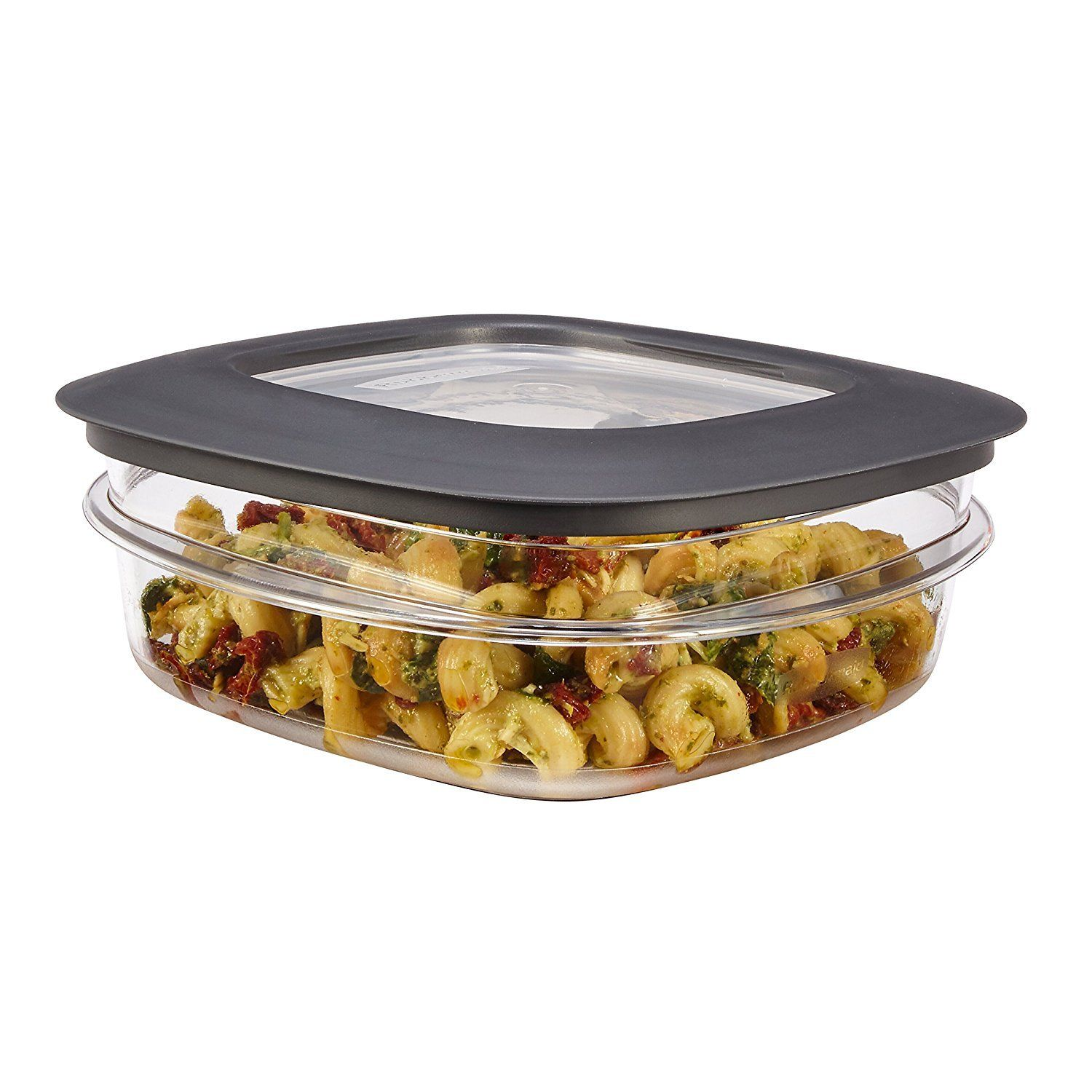 Rubbermaid 3 Cup Clear Premier Food Storage Container With Gray Lid (Pack of 1) 1